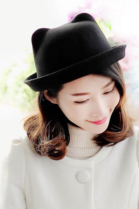 韩版时尚可爱猫耳朵礼帽