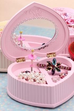 【艾家】创意桃心蛋糕音乐盒 韩版芭蕾女孩八音盒