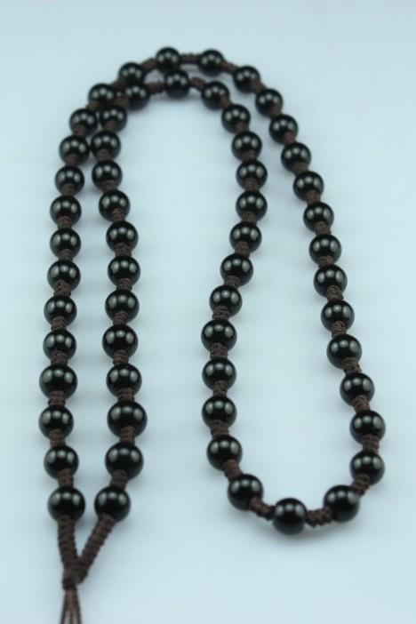 手工编制高级全珠子玉器项链 和田玉翡翠玉挂绳玉石链子只赚人气