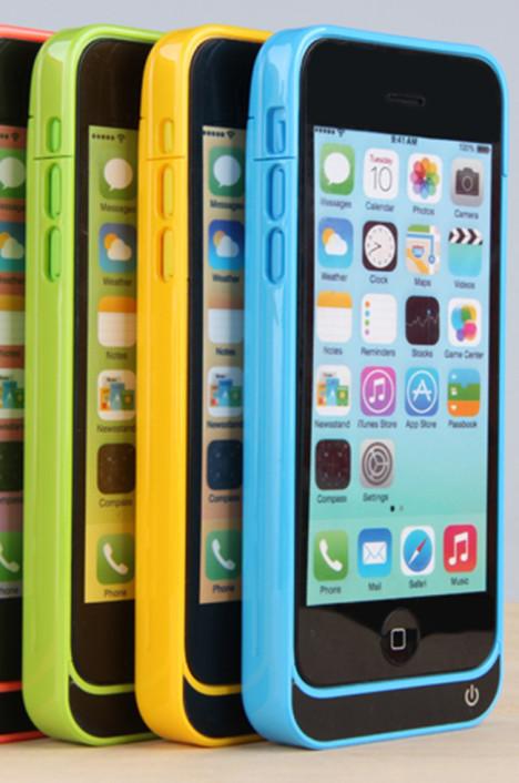 苹果5/5s/5c背夹电池 无线充电宝手机套