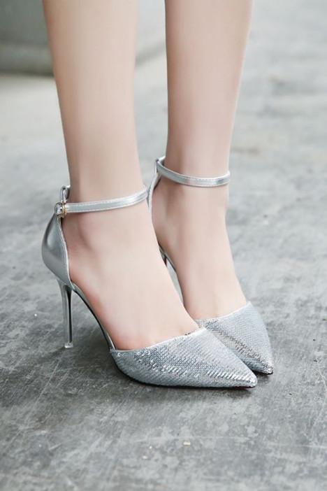 欧美性感一字扣细跟尖头高跟鞋 -鞋子 单鞋 女鞋 服饰鞋包 卡卡女鞋 蘑