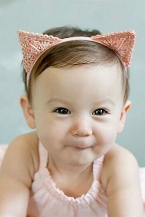 韩国版婴儿童头饰发带影楼可爱饰品女宝宝发饰发卡可爱猫耳朵纯棉