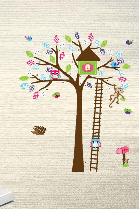 蘑菇房子粘贴画-号儿童房男孩房贴画 -家居 贴饰 墙贴 家居建材 家居饰品 爱饰家居墙