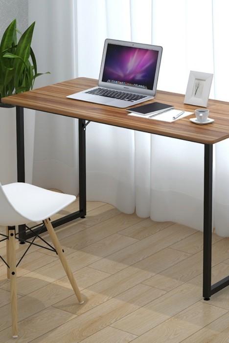 易安装简易书桌电脑桌写字桌饭桌折叠桌子木头材