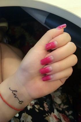 【满12包邮】指甲贴纸韩国贴花可爱卡通手指甲贴渐变