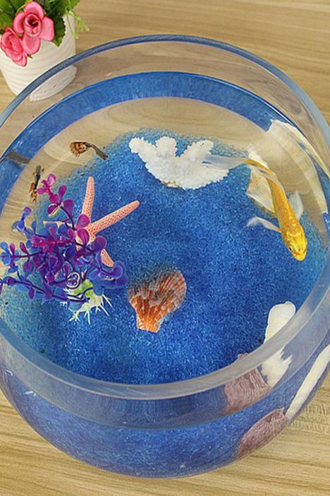 创意水族箱生态圆形玻璃金鱼缸 大号乌龟缸