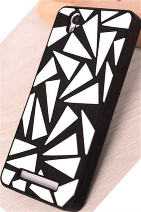 金立f103黑白防摔软硅胶手机壳 -null 3C数码配件 手机保护套 壳 手机