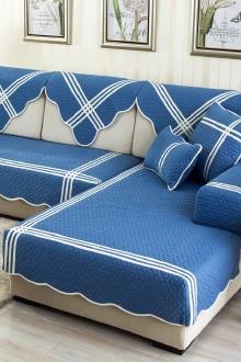万家丽地中海风纯棉沙发垫布艺沙发巾防滑坐垫可定做$20-勾沙发垫图片