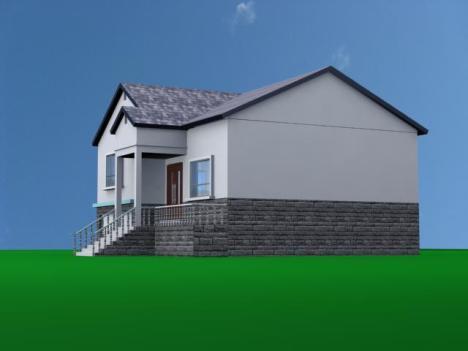 一层带车库平房设计图 农村自建房屋施工图 带地下室全套图纸