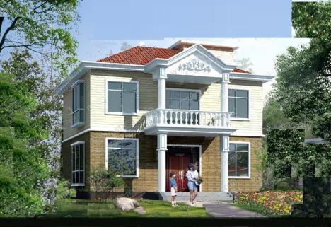 经济型二层别墅图纸农村自建房设计图建筑结构含水电户型房屋包邮 -