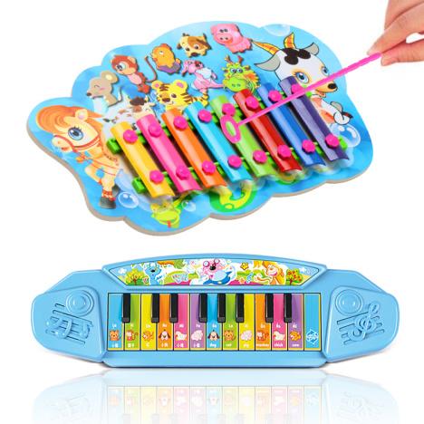 儿童音乐早教迷你电子琴八音益智小敲琴套装
