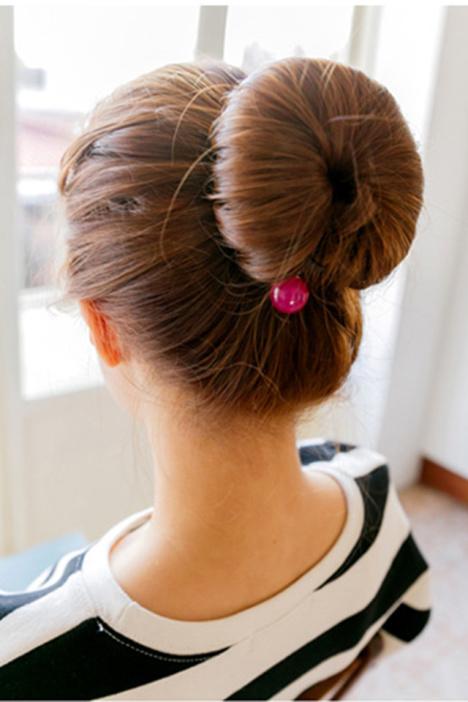 时尚便捷丸子头珍珠盘发器发饰图片