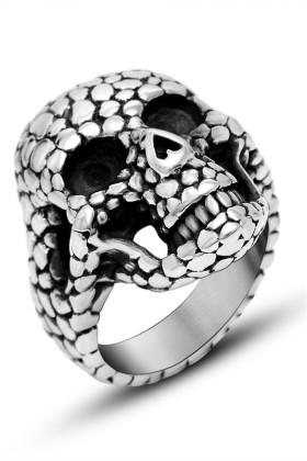 骷髅戒指 朋克潮流个性钛钢饰品                     领跑运动专营店