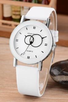 韩国学生韩版时尚潮流复古简约男表女表对表皮带情侣手表$28图片