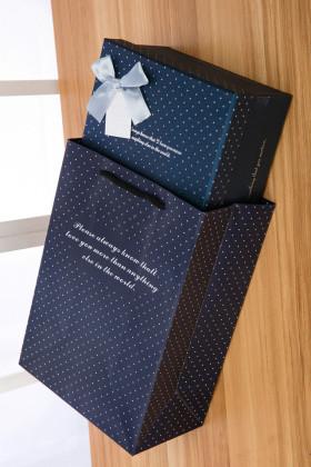 长方形墨蓝色礼品盒折纸千纸鹤爱心星星包装盒礼盒生日礼物盒子$21图片