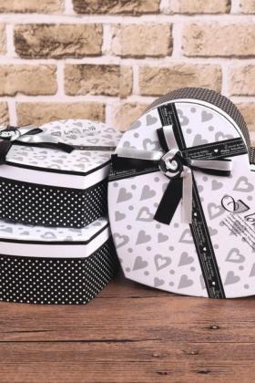 灰白色桃心形礼品盒千纸鹤糖果爱心包装盒折纸星星礼盒生日礼物$18图片