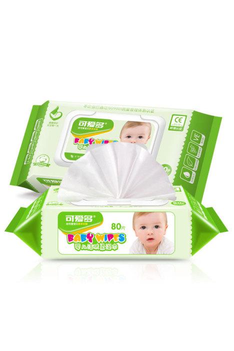 80抽可爱多婴儿洁肤柔湿巾(盖装) 80抽*2包