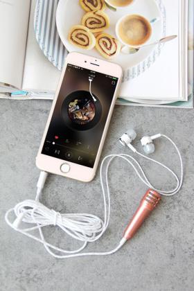 麦克风录歌耳机苹果安卓手机耳机唱吧唱歌话筒耳机