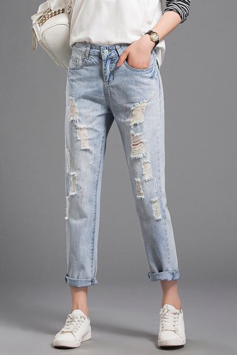 破洞,修身,休闲,韩版,牛仔裤