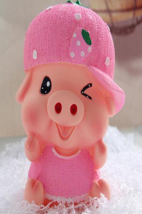 创意大号猪存钱罐可爱卡通麦兜猪储蓄罐防摔儿童储钱罐生日礼品