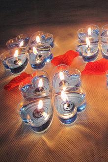 20只心形果冻蜡烛爱心求婚庆无烟浪漫生日表白心型蜡烛节庆用品$12