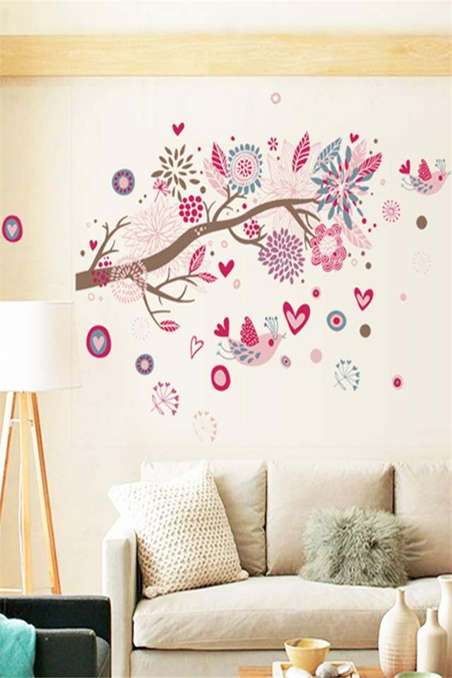 Creative Wall Sticker Living Room Bedroom Romantic Bed Room Decor Wall  Stickers Self Adhesive Wall Stickers Decals Part 72