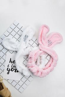她很漂亮高俊熙同款韩版发带 洗脸兔耳朵束发带洗脸发箍发带$11.76-