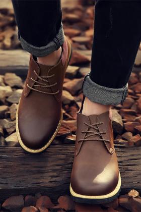 棉鞋男马丁靴高帮鞋搭配图片_棉鞋男马丁靴高