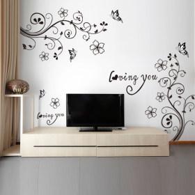 电视墙贴画墙壁贴纸怎么搭配 电视墙贴画墙壁贴纸如何搭配 爱蘑菇街