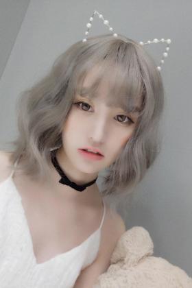 韩国假发女短发空气刘海蓬松可爱蛋卷头泡面头自然逼真圆脸梨花头