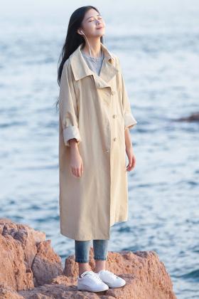 休闲百搭显瘦中长款风衣外套女2017春季新款$99.0-春季休闲外套女