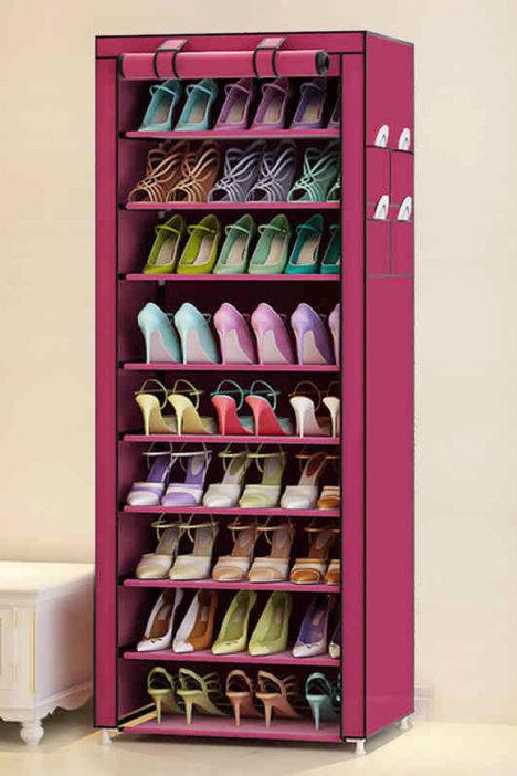 10层 防尘无纺布鞋柜 多层组装组合鞋架牛津布鞋柜鞋储