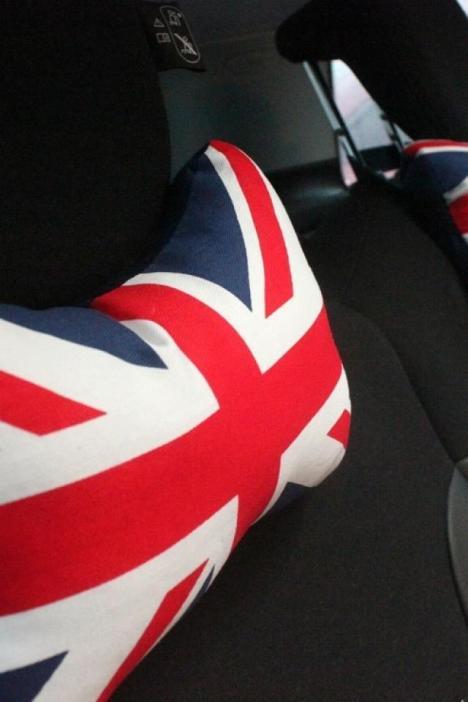 创意米字旗头枕黑白格子图案英国旗风格时尚英伦汽车个性护颈枕