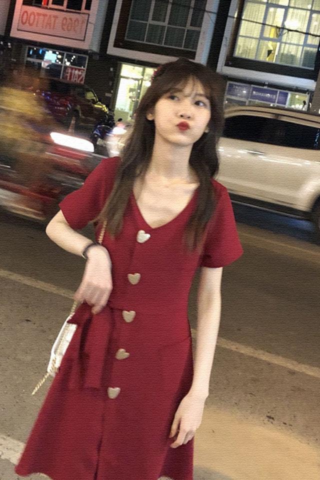气质连衣裙女2019夏季流行女装超仙女气质森系甜美丧连衣裙子